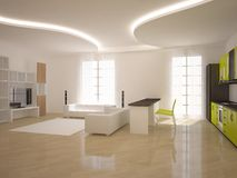 White modern design interior Royalty Free Stock Images