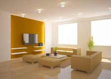 White modern design interior Stock Images