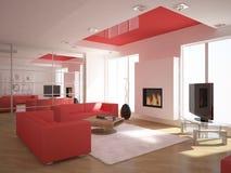 White modern design interior Stock Image