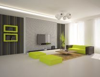 White modern design interior Royalty Free Stock Image