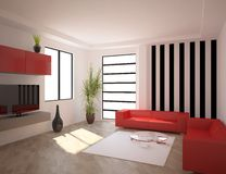 White modern design interior Royalty Free Stock Photo
