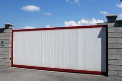 White modern gate Royalty Free Stock Photo