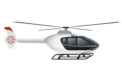 White modern helicopter. Stock Photos