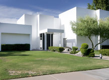 White modern home Royalty Free Stock Photography