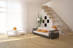 White modern interior Royalty Free Stock Photography
