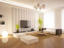 White modern interior Royalty Free Stock Image
