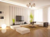 White modern interior Royalty Free Stock Image