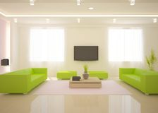White modern interior Stock Image