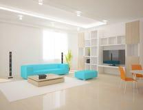 White modern interior Stock Photos