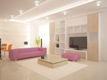 White modern interior Royalty Free Stock Images