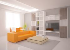White modern interior Stock Images