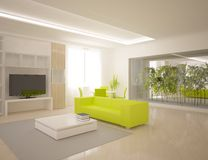 White modern interior Royalty Free Stock Photo