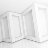 White Modern Interior. 3d Illustration of White Modern Interior Background Royalty Free Stock Images
