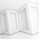 White Modern Interior. 3d Illustration of White Modern Interior Background vector illustration