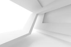 White Modern Interior Design. 3d Illustration of White Modern Interior Design. Abstract Architecture Background stock illustration