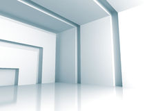 White Modern Interior Empty Room Background Royalty Free Stock Image