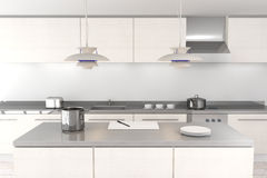White modern kitchen Stock Images