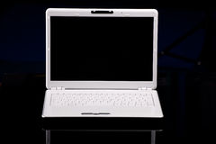 White modern laptop computer Royalty Free Stock Photos