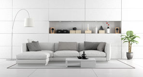 White modern living room Royalty Free Stock Photography