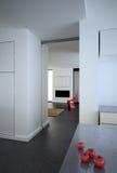 White modern minimalist loft Stock Image