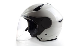 White modern quad ATV helmet Stock Image