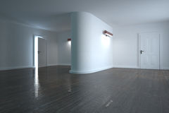 White modern room Royalty Free Stock Image