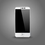 White modern smart phone with black screen Stock Photography