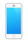 White modern smart phone Royalty Free Stock Photography