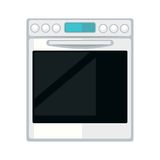 White modern stove. Vector illustration of modern white colored cooker isolated on white Royalty Free Stock Image