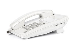 White modern telephone Stock Photos