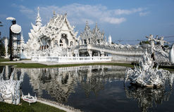 White modern temple. White, modern temple near the Chiang Rey Royalty Free Stock Images