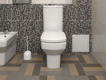 White modern toilet bowl Royalty Free Stock Photo