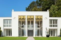 White modern villa Stock Images