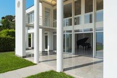 White modern villa Stock Photos