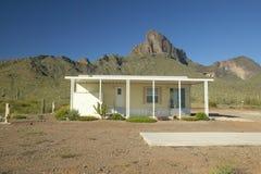 White modular home in the desert near Picacho Peak State Park, AZ Stock Image