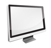 White Monitor HD 16:9 Stock Image
