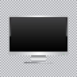 White monitor transparent background Stock Images