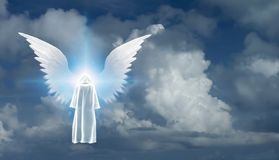 White Monk and Angel Star vector illustration