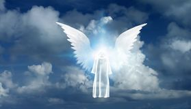 White Monk and Angel Star Royalty Free Stock Images
