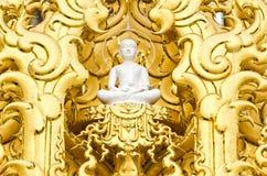 White monk meditation statue Stock Photo
