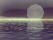 White moon. And fog stock illustration