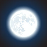 White moon at night background Stock Photography
