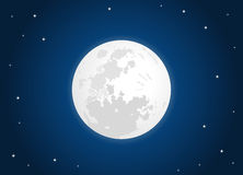 Moon. White moon with star sky Royalty Free Stock Image