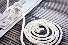 White mooring rope Stock Photo