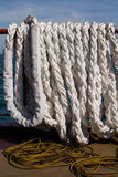 White mooring rope Royalty Free Stock Image