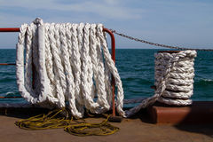 White mooring rope Stock Images