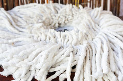 White mop royalty free stock photography