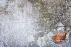 White mortar gray wall texture and background Royalty Free Stock Image