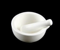 White Mortar And Pestle Stock Images