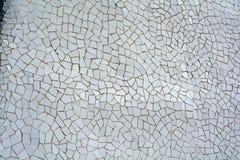 White mosaic ceramic tiles Royalty Free Stock Photo
